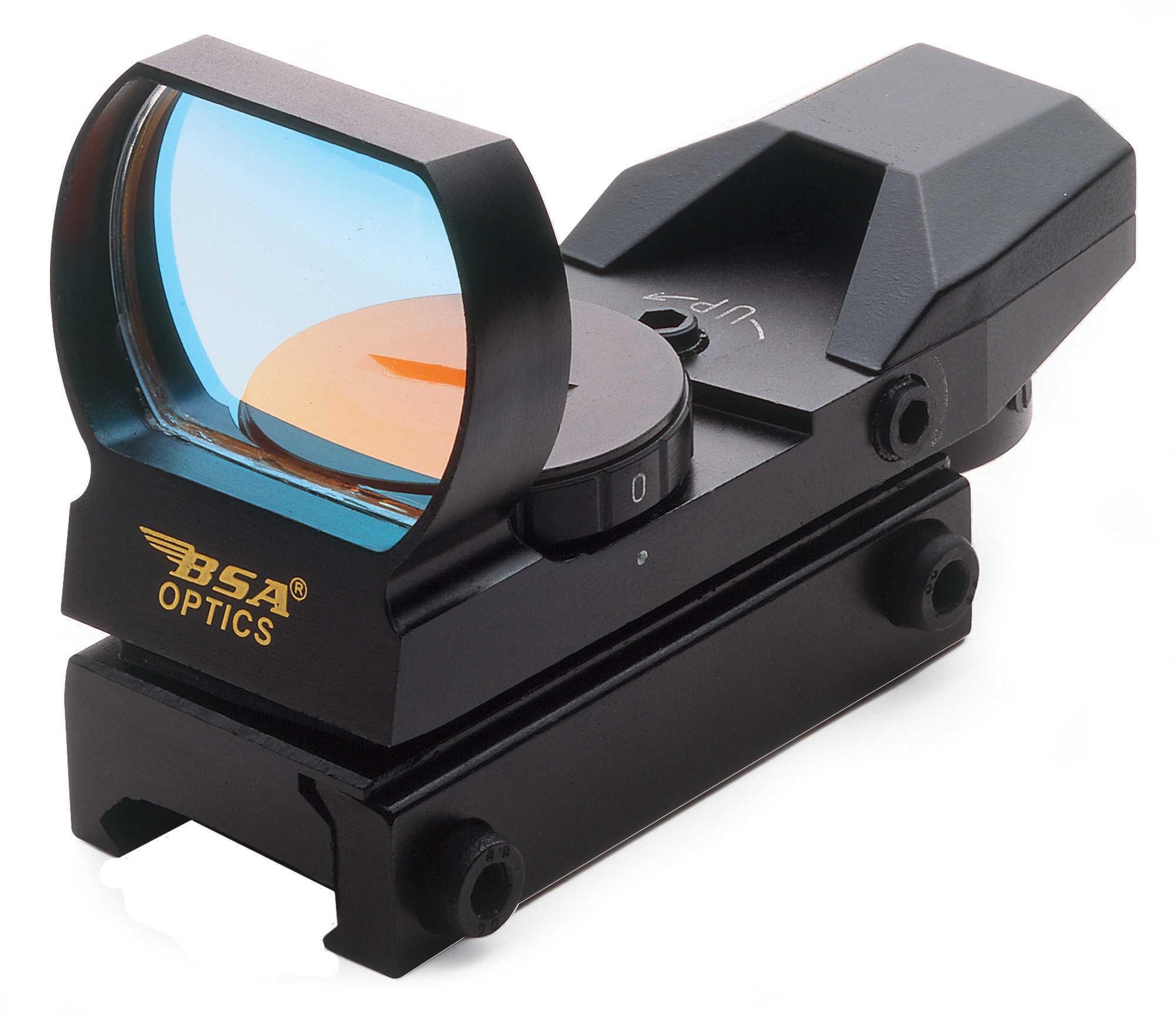 Bsa Optics Panoramic Multi-Purpose Sighting System Red Dot Black Panoramic Sight W/ Weaver Style Mnt, 7-pos Rheostat Adj