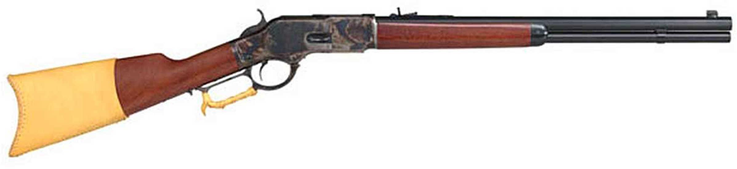 "Taylor's & Company Taylor 1873 Comanchero Lever Action Rifle 45 Long Colt 20"" Octagonal Barrel Buckhorn Rear/Gold Bead Sight Walnut Straight Stock 10-Round Capacity Case Hardened Frame"