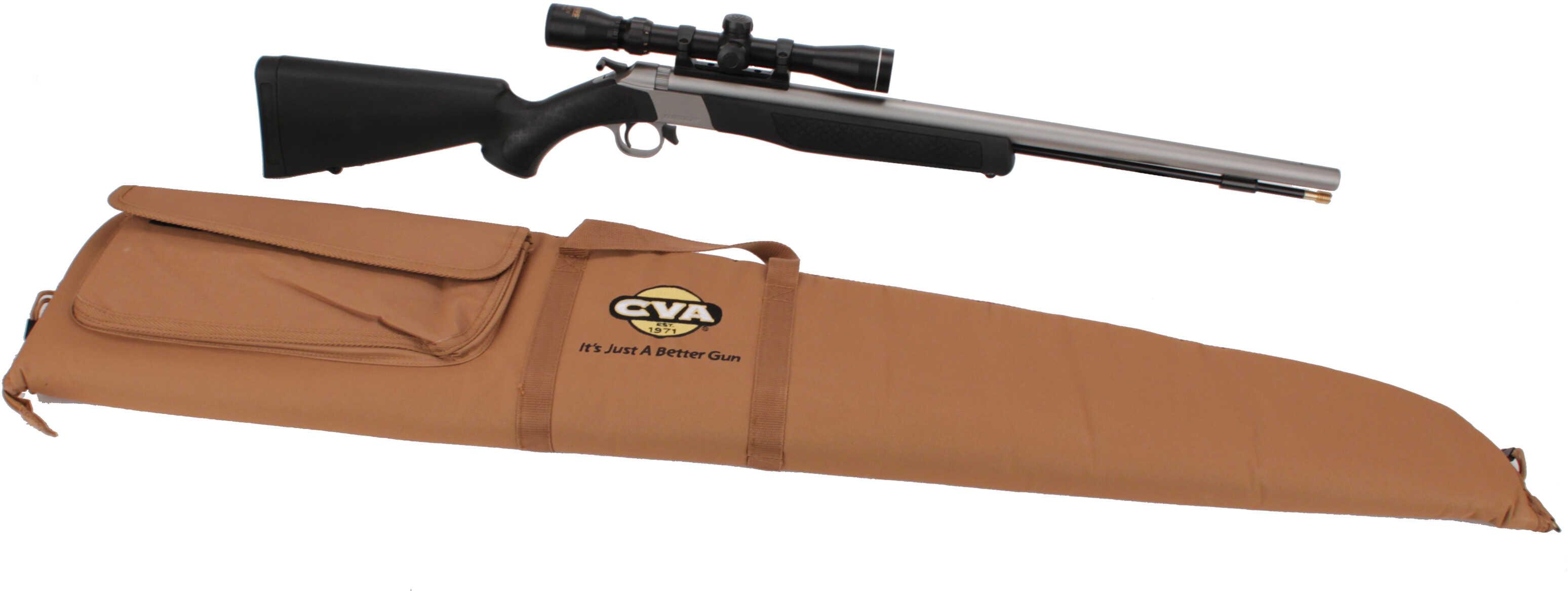 CVA Wolf .50 Caliber Muzzleloader Stainless Steel/Black w/KonuShot Scope PR2110SSC