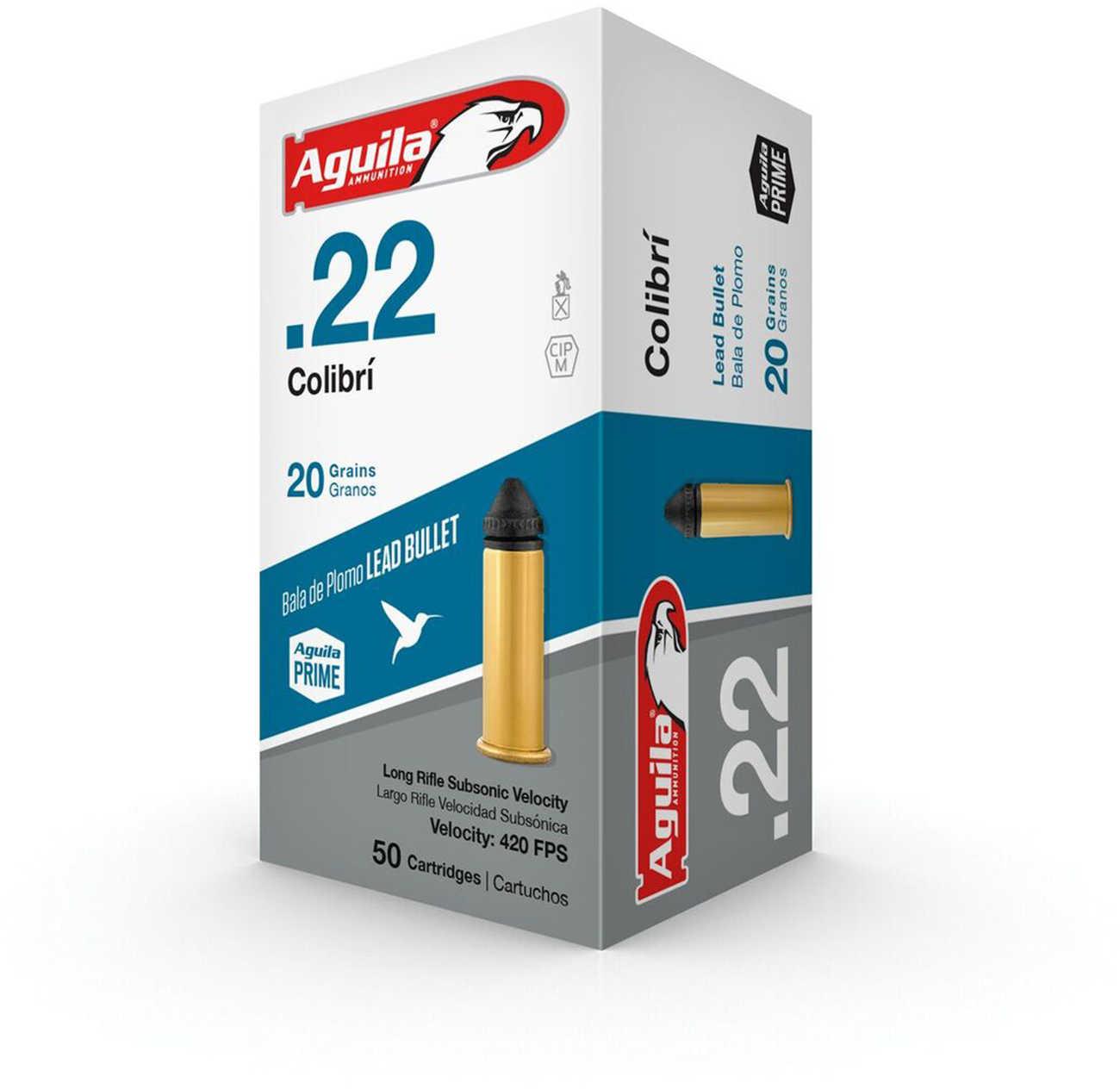 1B222337 Colibri 22 Long Rifle (LR) 20 Grains Colibri Subsonic Lead 50 Rounds