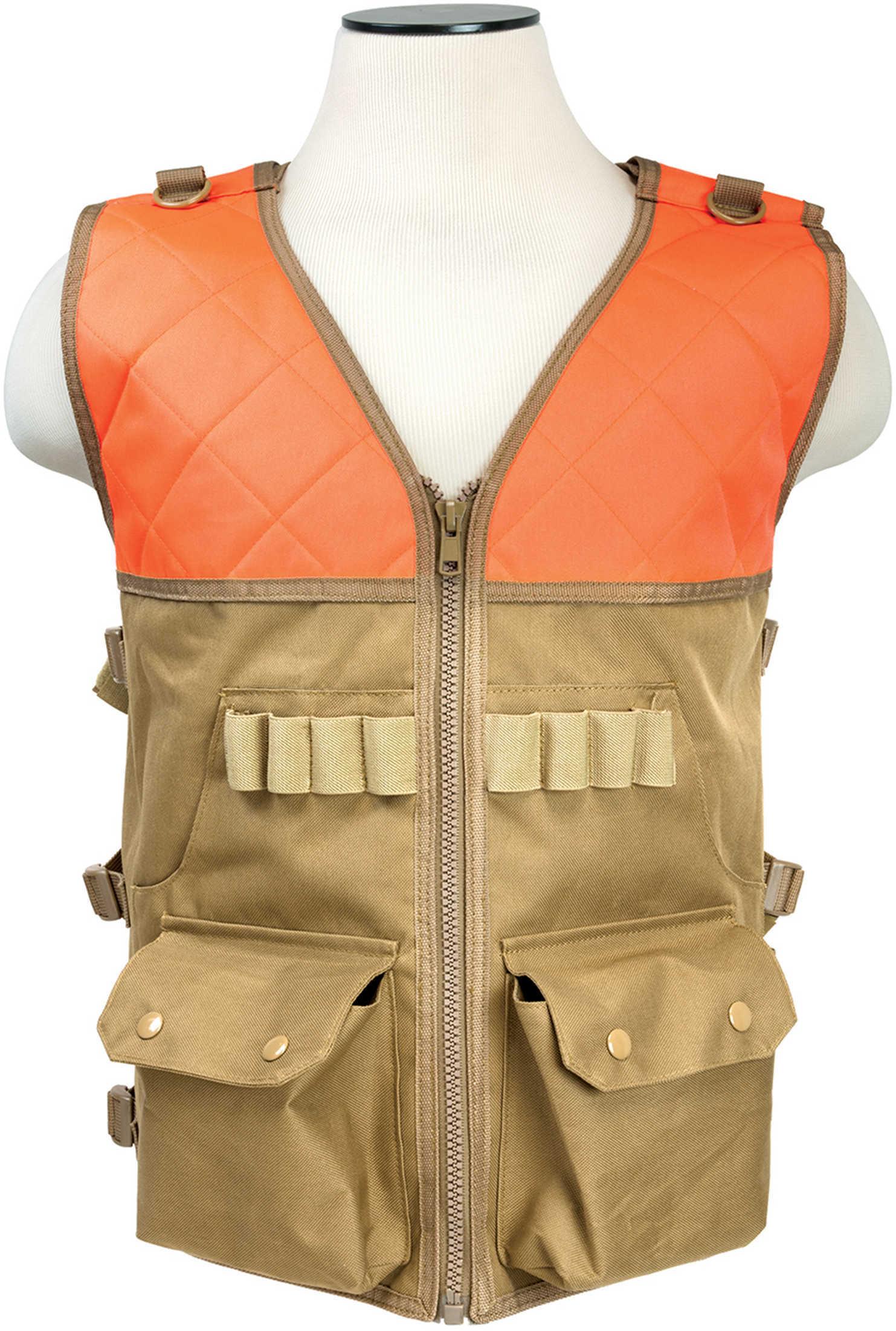 NcStar Hunting Vest/Blaze Orange And Tan CHV2942TO