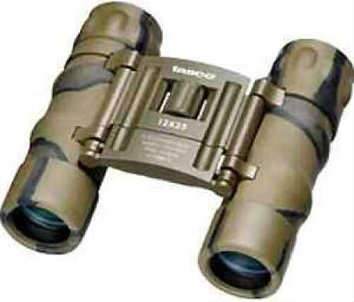 Tasco Essentials Binoculars 12x25mm, Brown/Camo 178BCRD