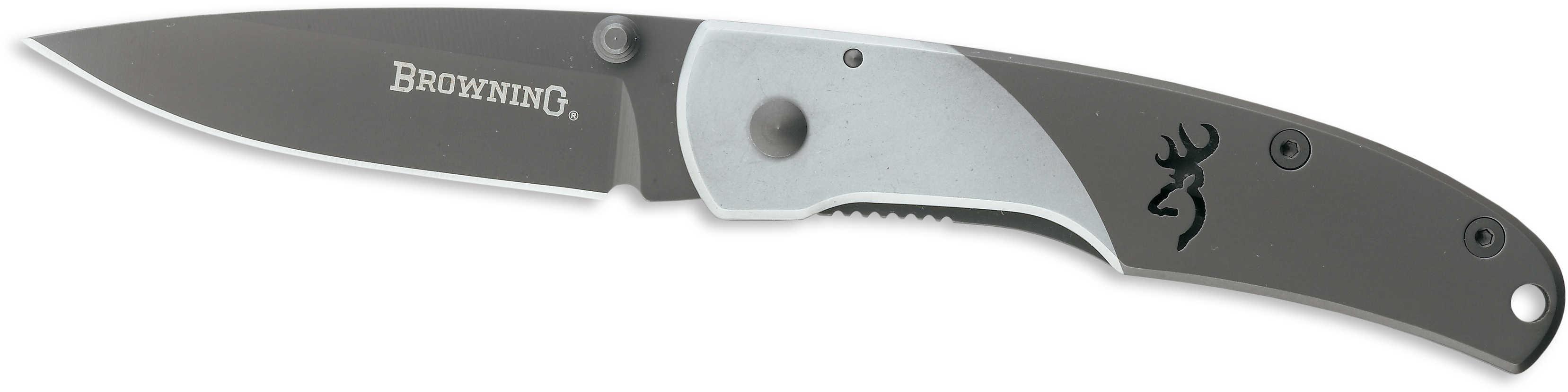 Browning Mountain Ti Folding Knife Medium, Gray 322560