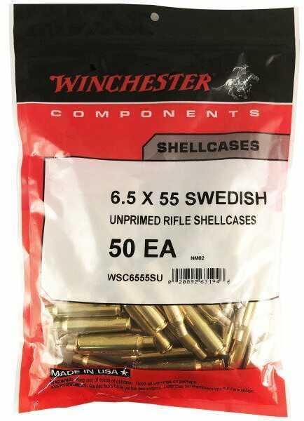 Winchester New Brass 6.5X55 Swedish Mauser 50 per bag