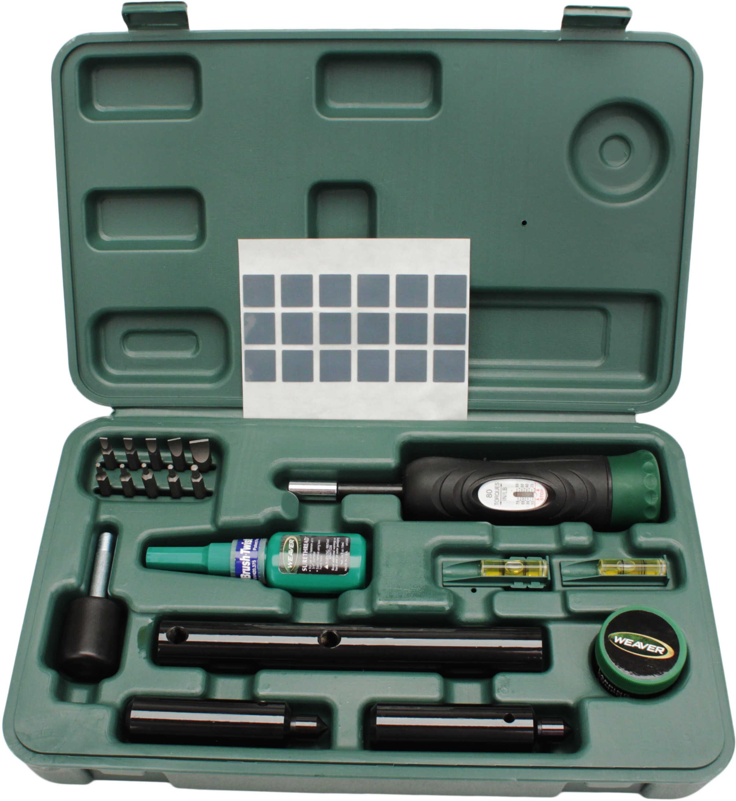 Weaver Deluxe Scope Mounting Kit Tool Weaver Deluxe Scope Mounting Kit Black/Green 849721