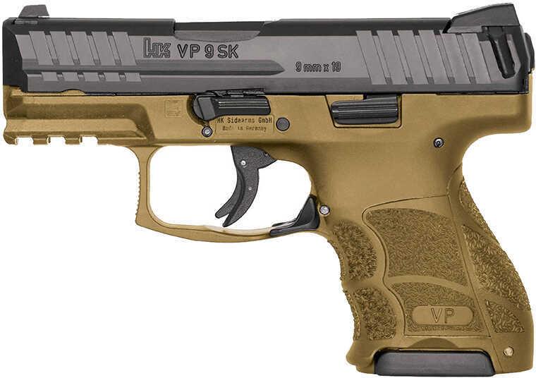 """Heckler & Koch VP9SK Semi-Automatic Pistol 9mm 3.39"""" Barrel 2-10 Round Mags Fixed Sights Flat Dark Earth Finish"""