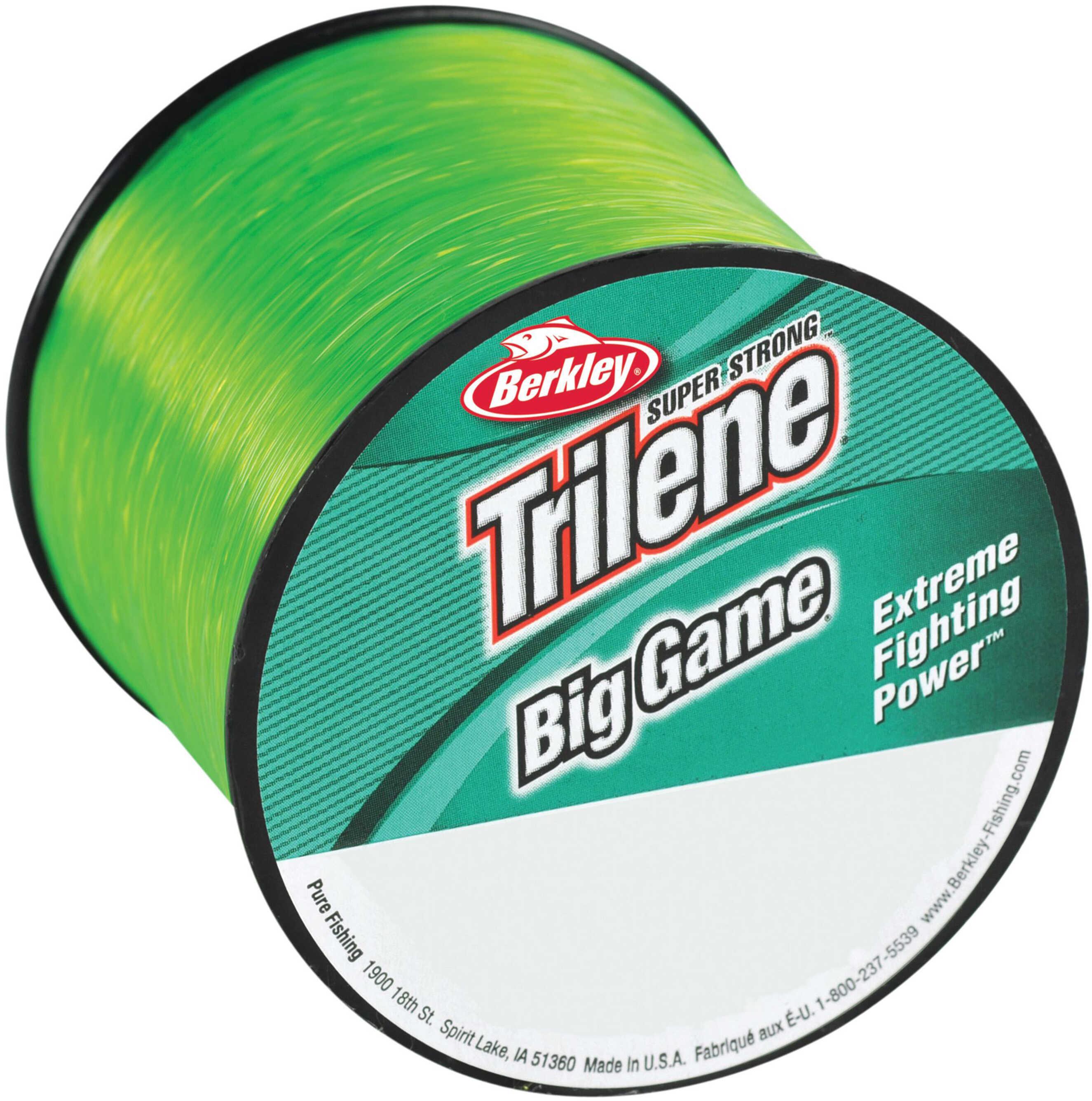 Berkley Trilene Big Game 1/4 lb Spool, 50 lb 275 Yard, Soalr, 4 Pack 1079076
