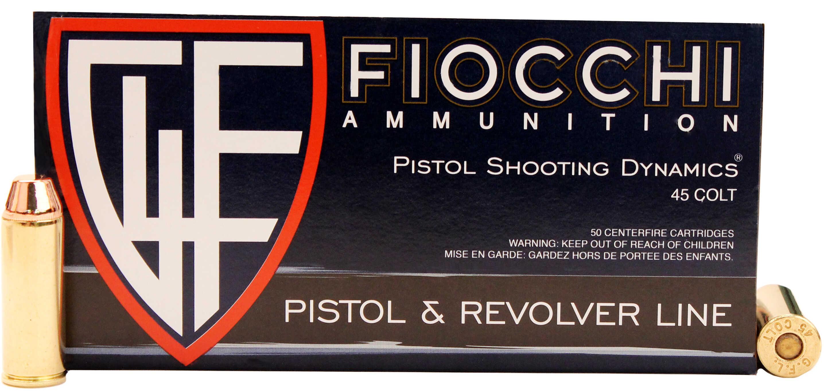 Fiocchi Ammunition .45 Long Colt 255 Grains, Complete Metal Jacket, Per 50 Md: 45LCCMJ