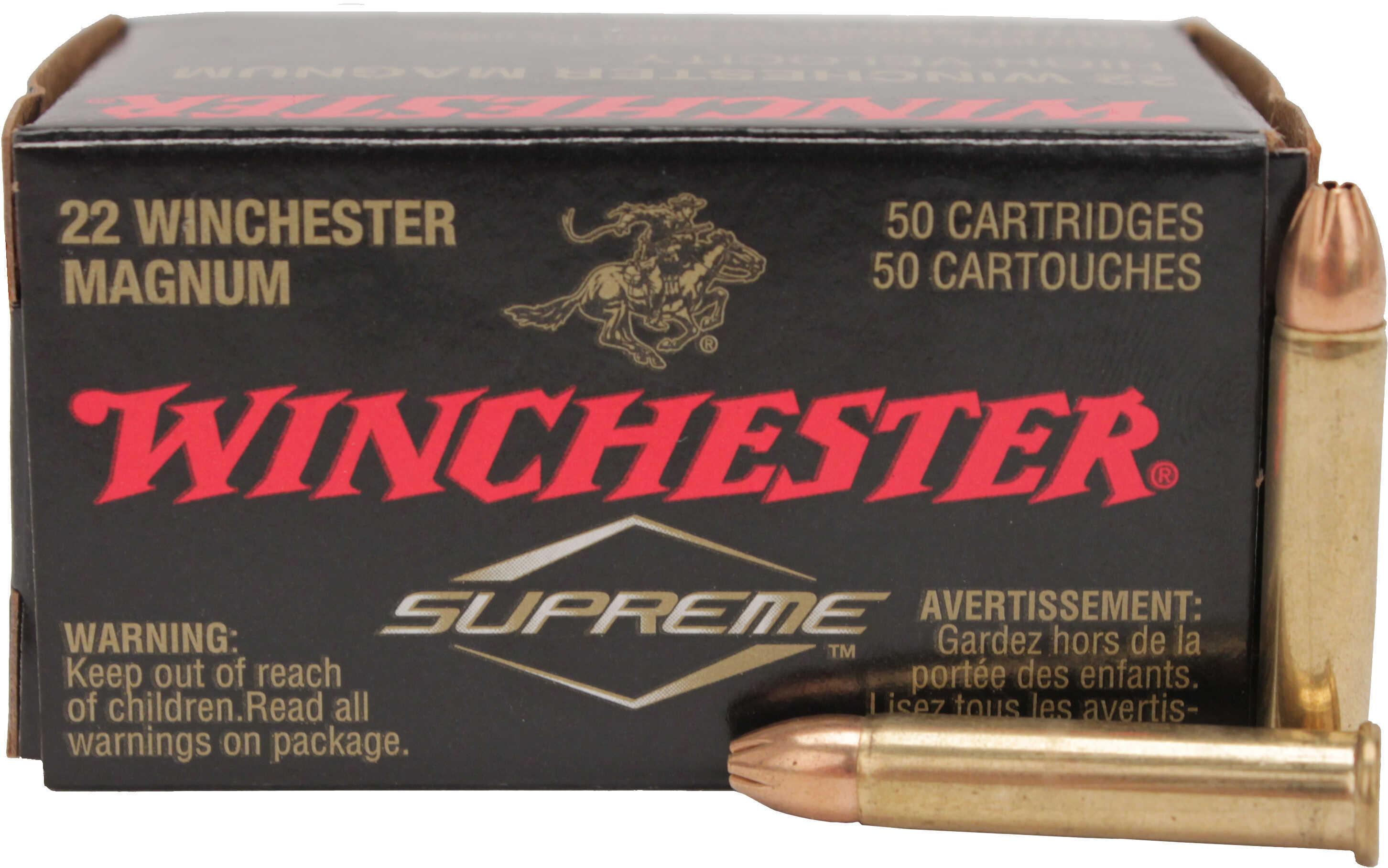 Winchester Varmint HV Rimfire 22WMR 30 Grain Jacketed Hollow Point 50 2000 S22M2
