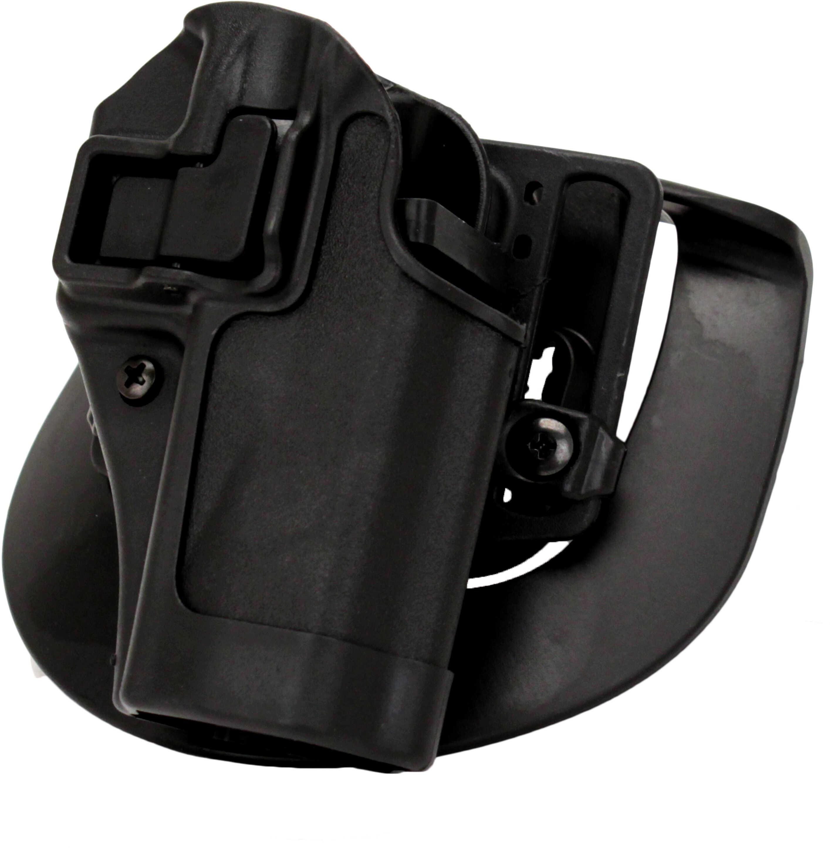 BlackHawk Products Group Serpa CF, Belt & Paddle Holster, Plain Matte Black Finish S&W M&P, Sigma, Right Hand 410525BK-R