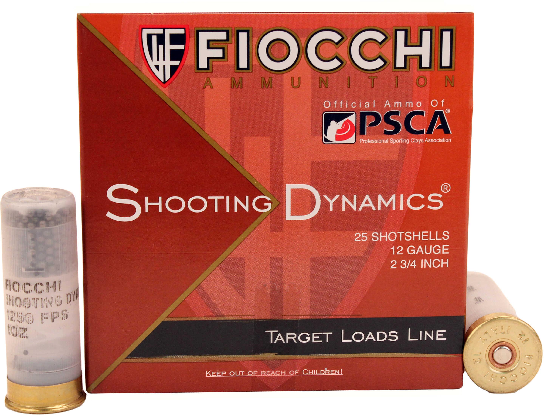 "Fiocchi Shooting Dynamics 12 Gauge - 8 Shot, 1 oz, 2.75"" (Per 25) Md: 12SD1X8"