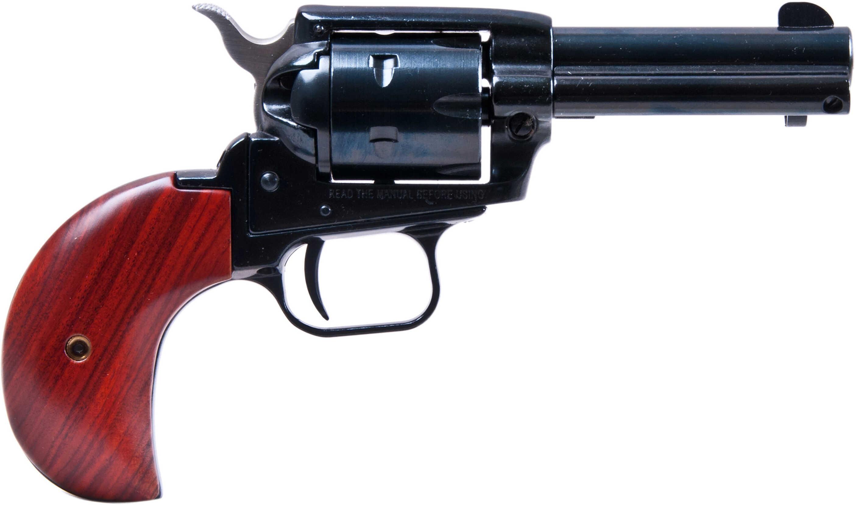 "Heritage Rough Rider Revolver SAA 22 Long Rifle / Mag 3.5"" Barrel Blue Finish Bird Head Wood Polished Grip RR22MB3BH"