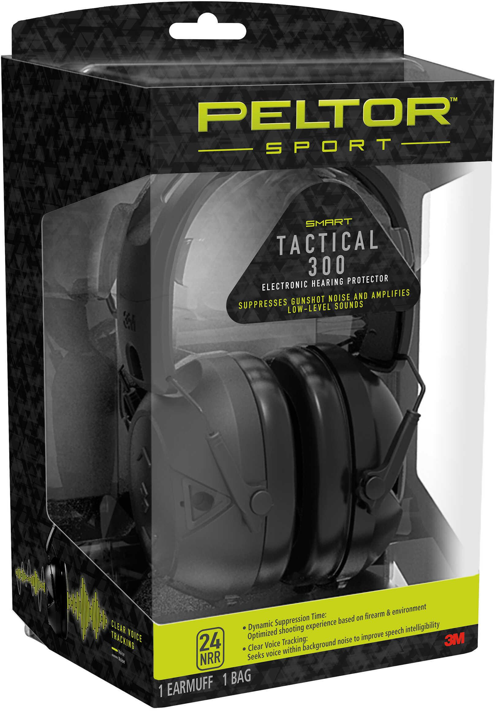 3M/Peltor Sport Tactical Earmuff Black NRR 24 TAC300-OTH