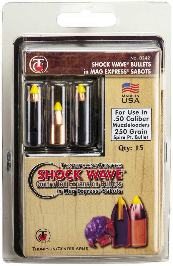 Thompson/Center Arms Sabots 50 Caliber Shock Wave Bullet 250 Grains 15Pk 8242
