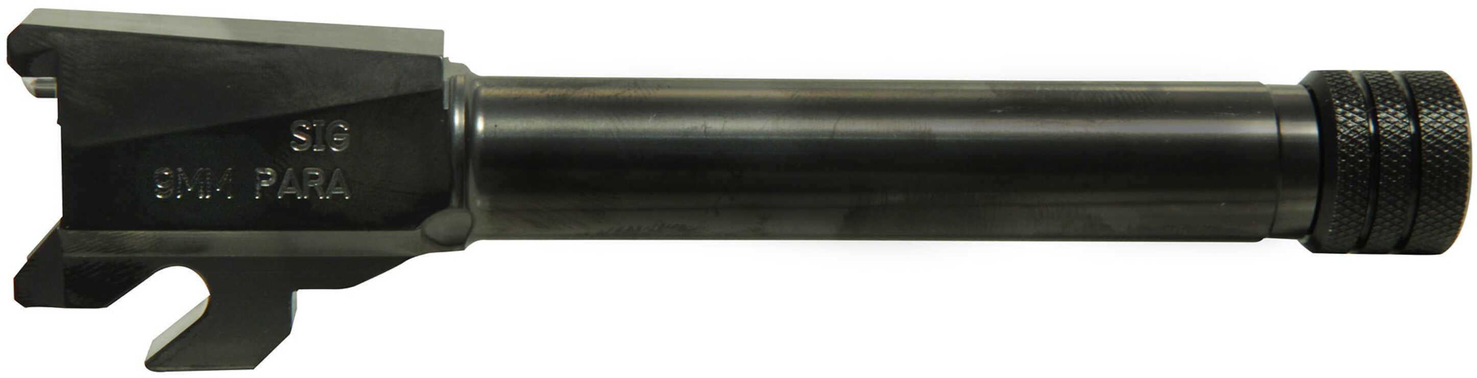 SigTac P250 Compact, 9mm Luger, M13.5x1 Left Hand Threaded Barrel, Black Md: BBL-MOD-C-9-TB