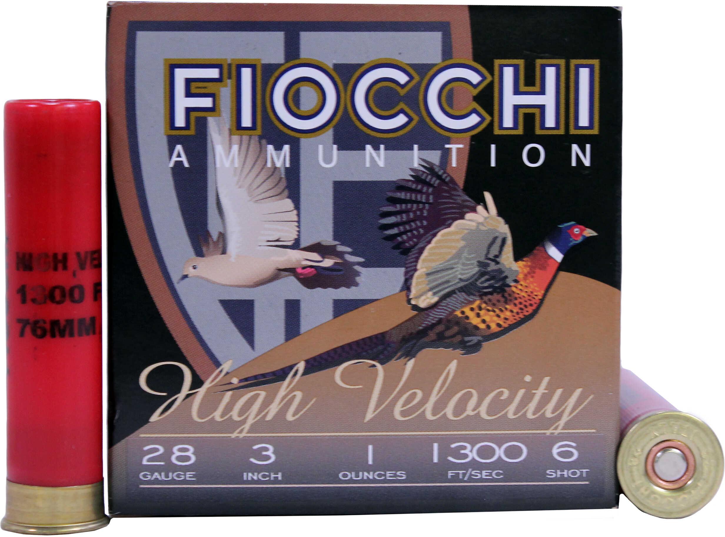 "Fiocchi Ammunition 28 Gauge High Velocity, 3"" Chamber, 6 Shot, 1 oz Md: 283HV6"
