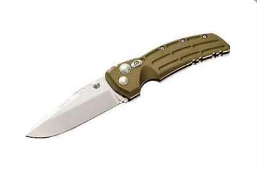 Hogue Aluminum Frame 3.5 Drop Point Blade, Tumble Finish, Matte OD Green 34171