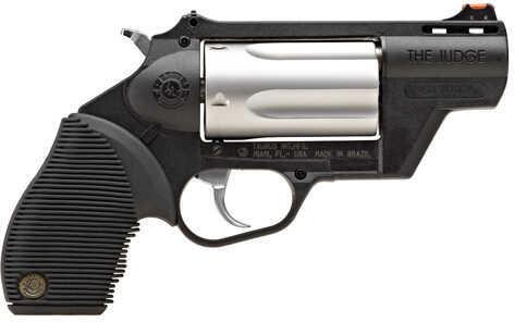 "Taurus Model ""The Judge"" 410 Gauge / 45 Long Colt Public Defender Polymer Frame  2"" Barrel  5 Round Stainless Steel Revolver    2441029TCPLY"