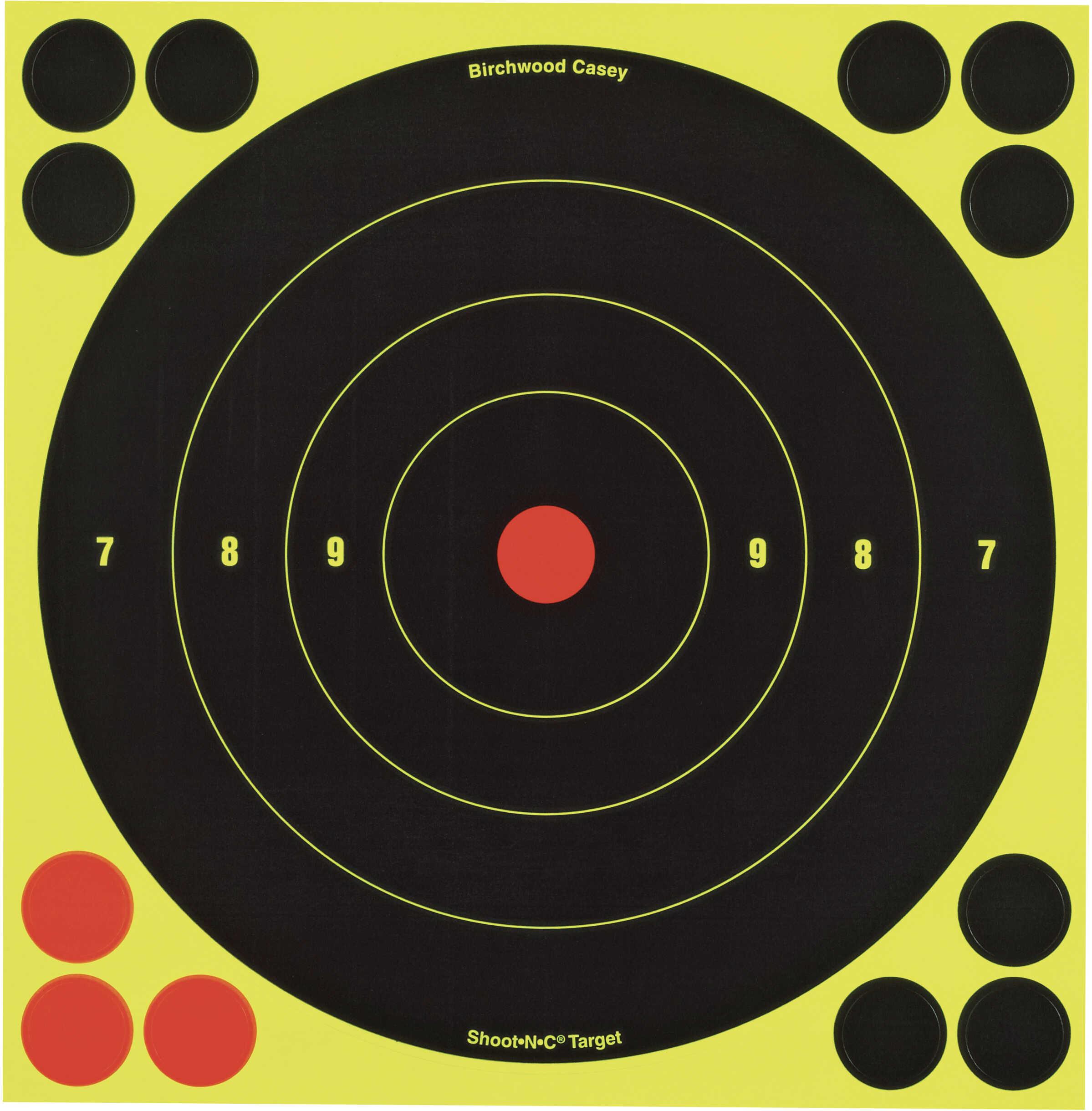 "Birchwood Casey Shoot-N-C Targets: Bull's-Eye 8"" Round Target (Per 6) 34805"