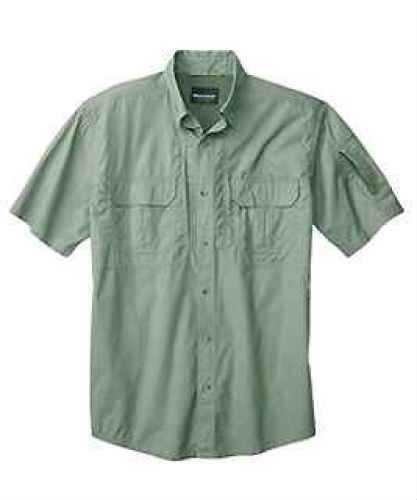 Woolrich Men's Short Sleeve Operator Shirt, Sage Small 44914-SAG-S