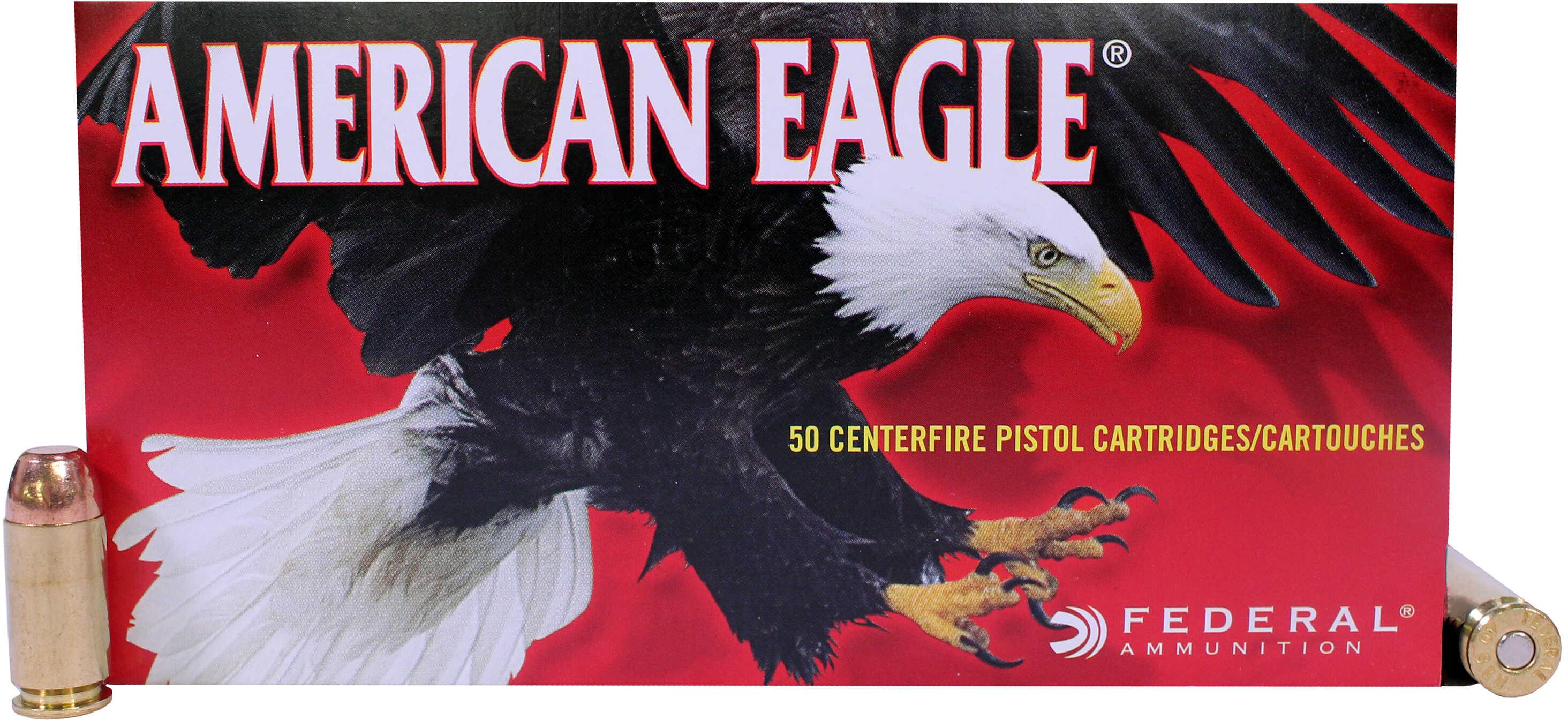 Federal American Eagle 40 S&W 165 Grain Full Metal Jacket 50 1000 AE40R3