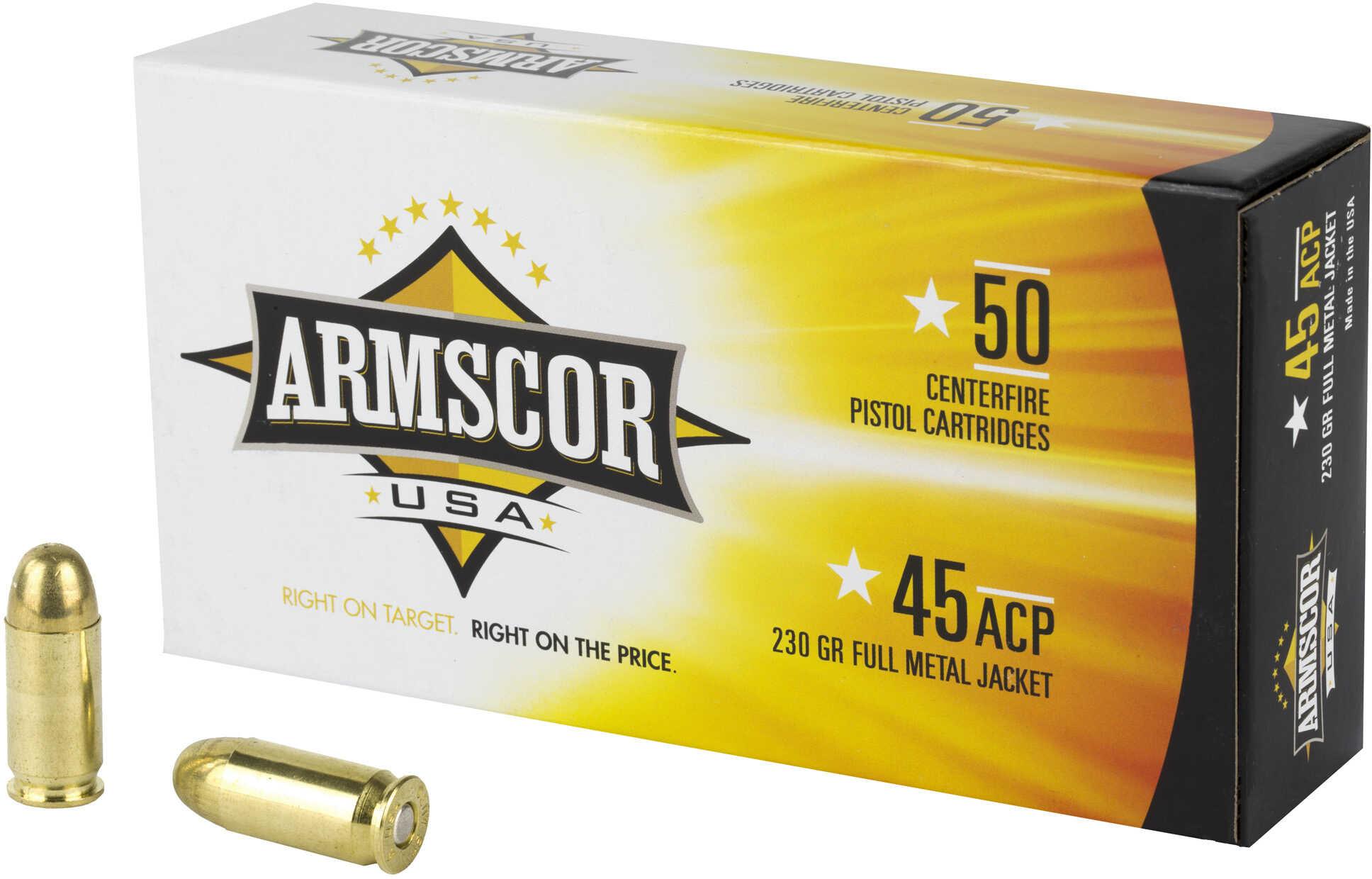 Armscor Ammunition 45 ACP 230 Grain FMJ 50 Rounds