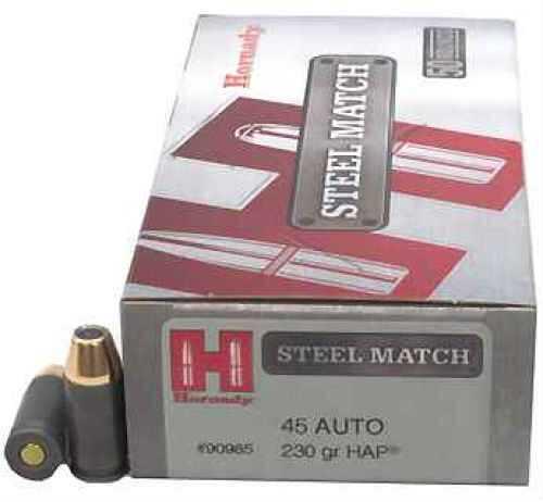 Hornady 45 Automatic Colt Pistol by 230Gr, HAP Steel Match/50 90985