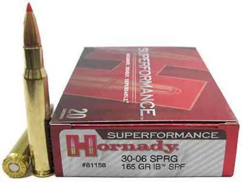 Hornady 30-06 Springfield by 165 Gr, Interbond Superformance/20 81158