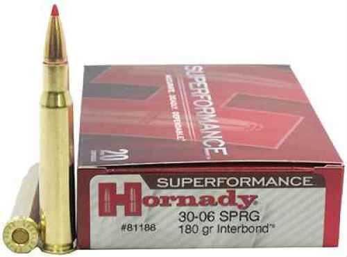 Hornady 30-06 Springfield 180 Grains Interbond Superformance /20 81188