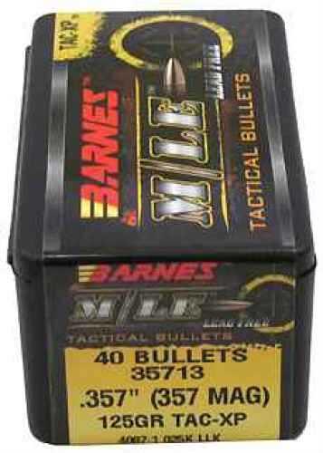Barnes Bullets 357 Caliber 125 Gr, TAC-XP/40 35713