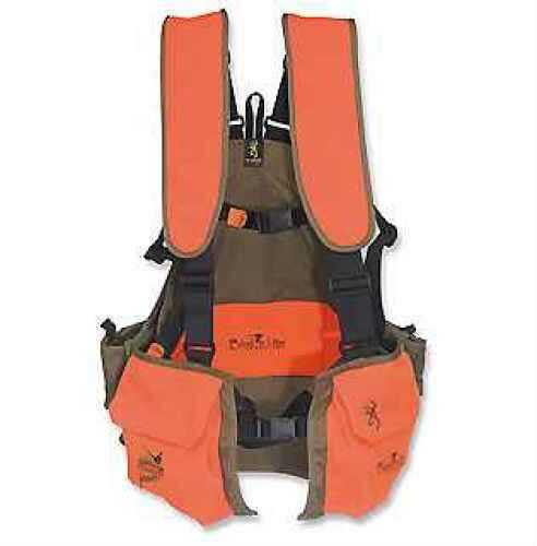 Browning Bird'n Lite Strap Vest, Pheasants Forever, Khaki/Blaze X-Large-XX-Large 3006895804