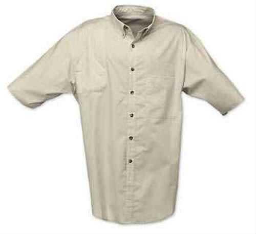 Browning Badger Creek Short Sleeve Woven Shooting Shirt Sand, Medium Md: 3010344802