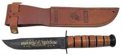 Ka-Bar Commemorative Knife USMC OEF Afghanistan, Leather Sheath 2-9169-2
