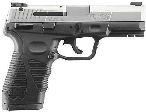 "Taurus PT 24/7-G2 45ACP Standard 4.2"" Barrel 12+1 Stainless Steel Finish Semi Automatic Pistol 1247459G212"