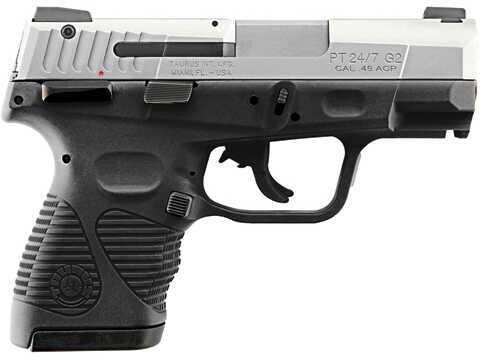 "Taurus PT 24/7-G2 Compact 45 ACP 3.5"" Barrel 12/10 Round Stainless Steel Semi Automatic Pistol 1247459G2C12"