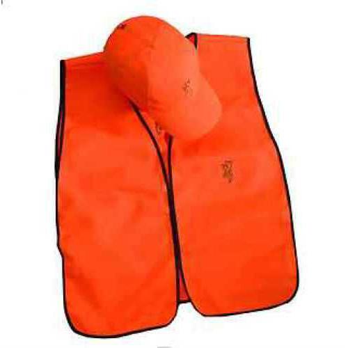 Browning Cap/Vest Combo Blaze Orange Md: 308515011