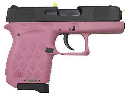 "Diamondback Firearms DB380 380 ACP 2.8"" Barrel 6 Round Pink Polymer Frame Black Slide Semi Automatic Pistol DB380HP"