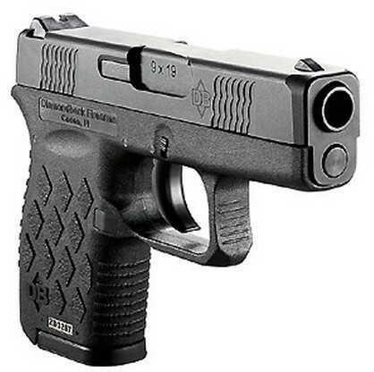 Pistol Diamondback Firearms 9mm Luger Auto Polymer Frame, 6+1 Black Slide/Black Frame DB9