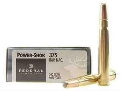 Federal Cartridge 375 Holland & Holland Magnum 375 H&H Mag, 300gr, Power Shok Soft Point, (Per 20) 375B