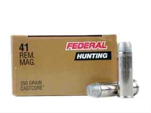 Federal Cartridge 41 Remington Magnum 41 Remington Mag, 250Gr., Cast Lead FP, P41B
