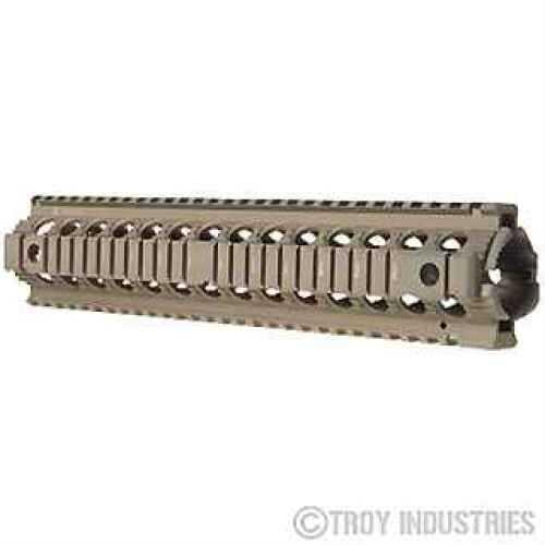 "Troy Industries 12"" Rifle Length Drop-In Rail Flat Dark Earth SRAI-MRF-D2FT-00"