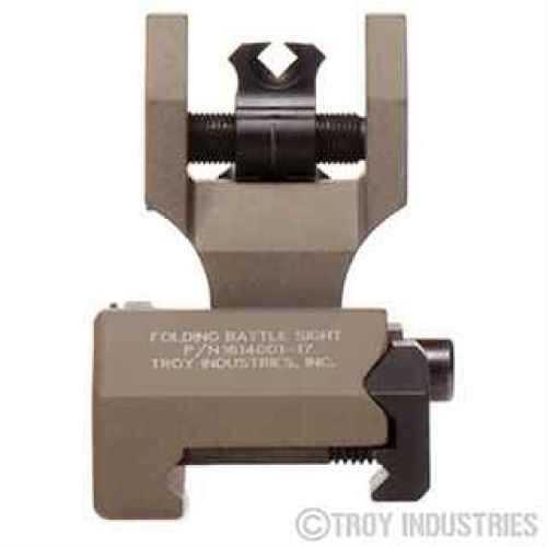Troy Industries DOA Rear Sight Flat Dark Earth, Folding, Tritium SSIG-FBS-TTFT-00