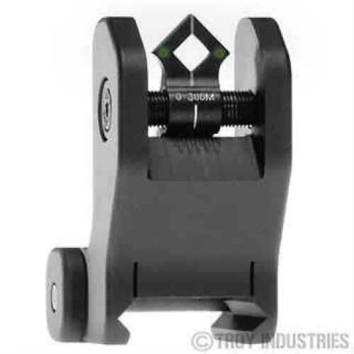 Troy Industries DOA Rear Sight Black, Fixed, Tritium SSIG-FIX-RTBT-00