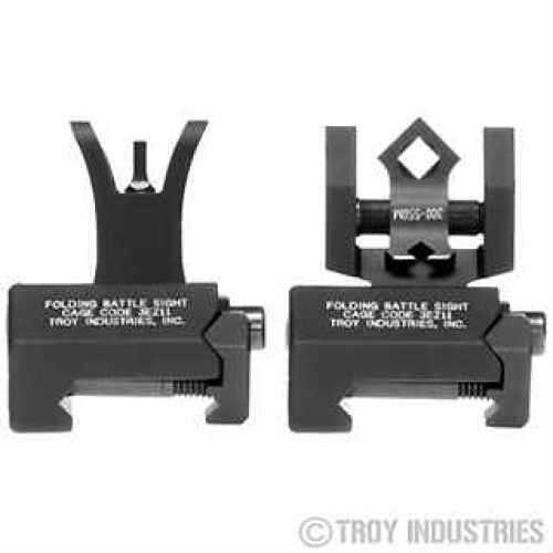 Troy Industries Micro- M4 Sight Set Black, Tritium, Folding SSIG-MCM-STBT-01