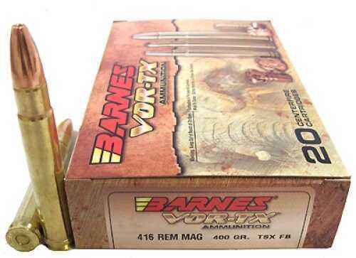 Barnes Bullets VOR-TX 416 Remington Magnum Per 20 400 Grains TSX-FB 22017