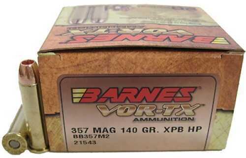 Barnes Bullets VOR-TX 357 Magnum 140Gr XPB (Per 20) 21543