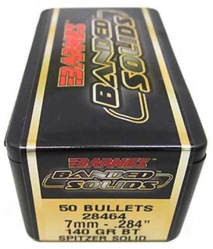 """Barnes Bullets Banded Solid Bullets 7mm .284"""" 140Gr Spitzer Boat Tail (Per 50) 28464"""