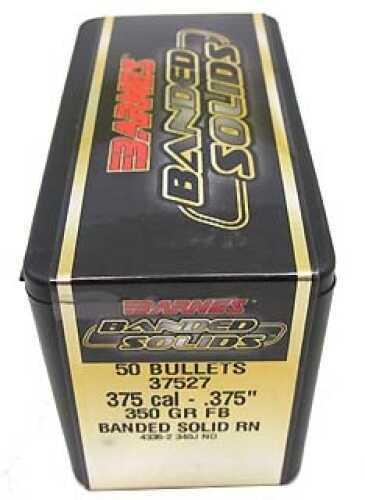 """Barnes Bullets Banded Solid Bullets 375 Cal .375"""" 350Gr Round Nose (Per 50) 37527"""