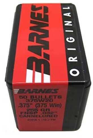 "Barnes Bullets Barnes Original .032"" Cannelured Bullets 375 Winchester .375"" 255Gr Flat Nose Soft Point (Per 50) 375W20"