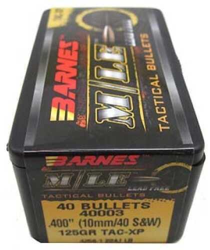 """Barnes Bullets M/LE Tactical Bullets 10mm/40 S&W .400"""" 125Gr TAX-XP (Per 40) 40003"""
